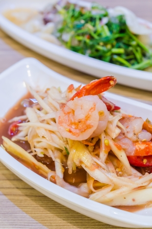 Green papaya salad with shrimp photo