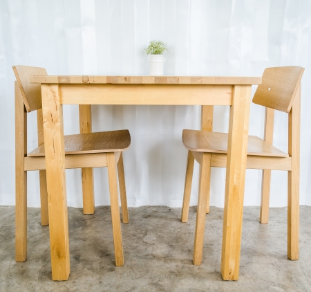 Wood table&chair