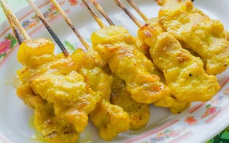 Grill pork thai style (Satay) photo
