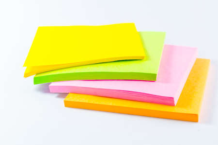 Colorful paper note photo