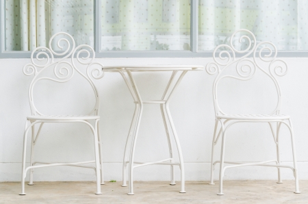 White table&chair Stock Photo - 21254754