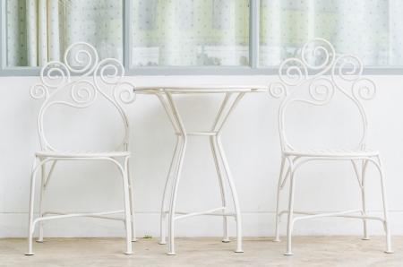 White table&chair Stock Photo - 21254754