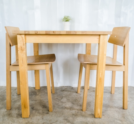 Wood table&chair photo