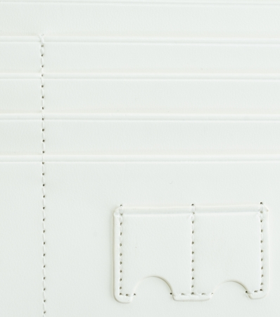 one us dollar coin: Surface white leather wallet