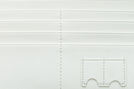 Surface white leather wallet photo