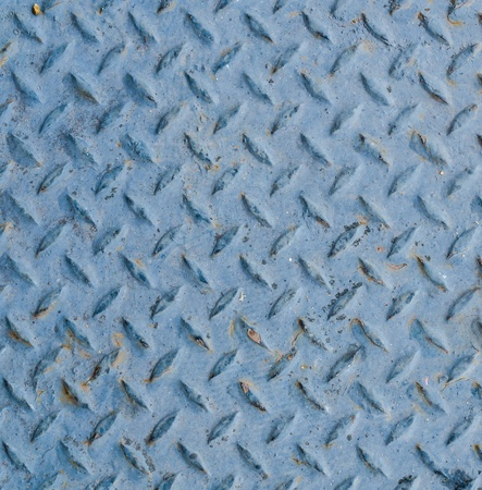 Blue metal texture for background photo