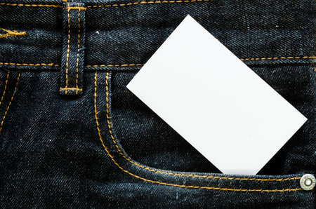 empty pocket: Jeans texture for background