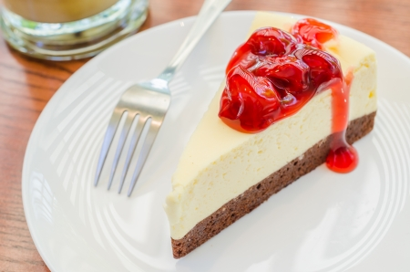Strawberry cheese cake photo