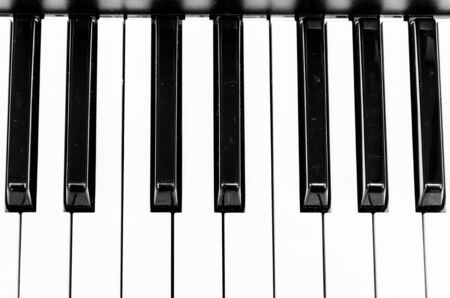 ebony: Piano keys (Select somepoint focus) Stock Photo