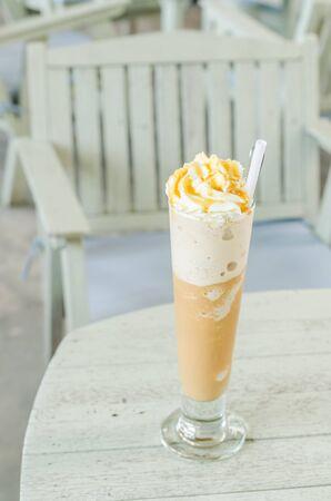 Cappuccino frappe in coffee shop photo