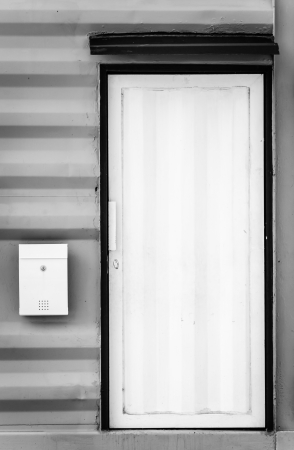 White door and mailbox (Special process) photo