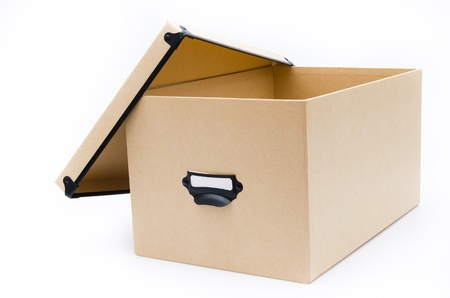 Office box on white background photo