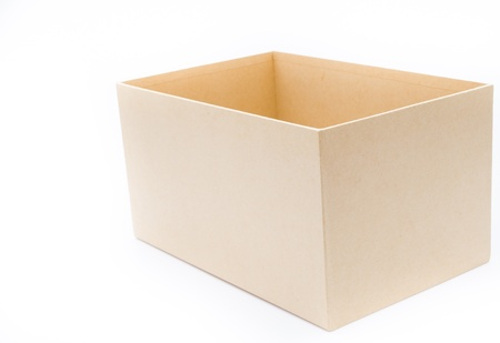 Empty box on white background photo