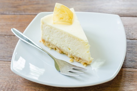 Cheese cake with fork