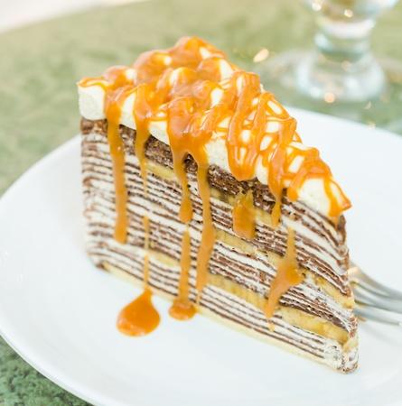 Banana crepe cake photo