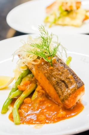 Fish steak with sauce Stock Photo - 21943798