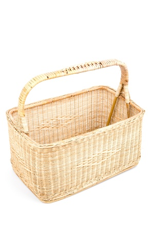 Basket on white background photo