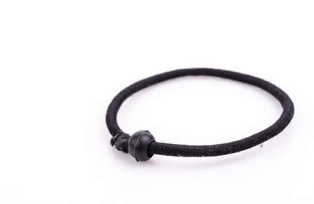 scrunchie: Black hairbands on white background