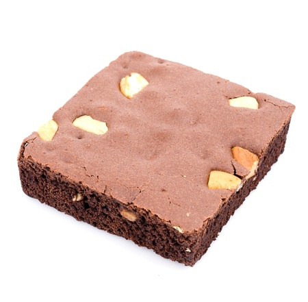 Brownie on white background photo