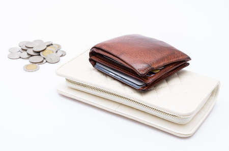 Wallet on white background photo