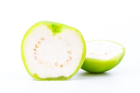 Guava on white background photo