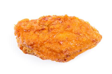 Fried chicken on white background photo