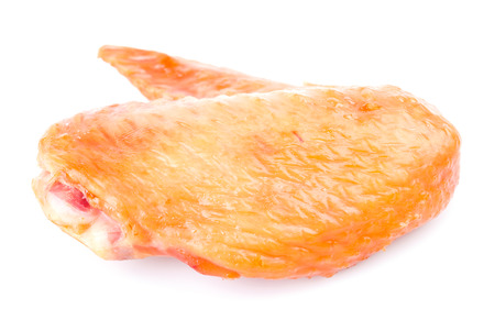 Smoked chicken wings on white background Stock Photo - 22326156