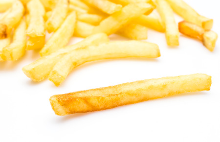 fast service: french fries Stock Photo