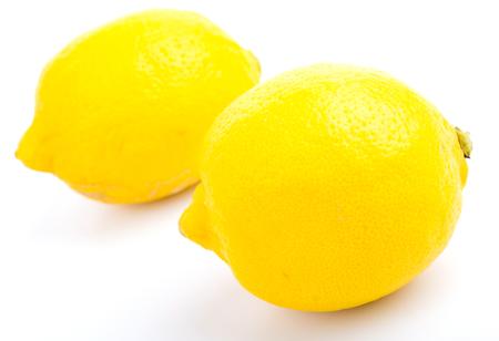 Lemon on white background photo
