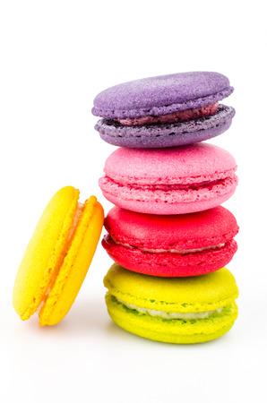 pasteleria francesa: Color de macarrones �til sobre fondo blanco