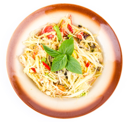 Spicy salad (Thai food) photo