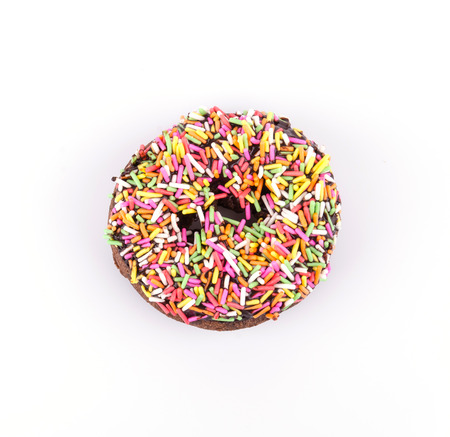 Donut on white background