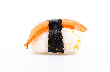 japanese cookery: Sushi crab stick on white background