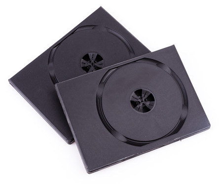 Dvd box on isolate white background photo