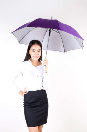 Women with umbrella photo