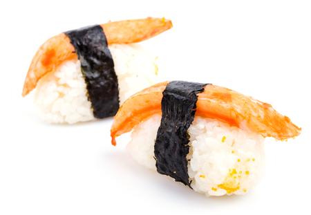 Sushi crab stick  isolated on white photo