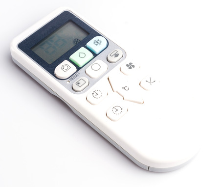 Remote on isolated white  photo