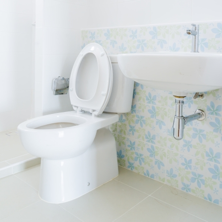 flushing: Toilet Stock Photo