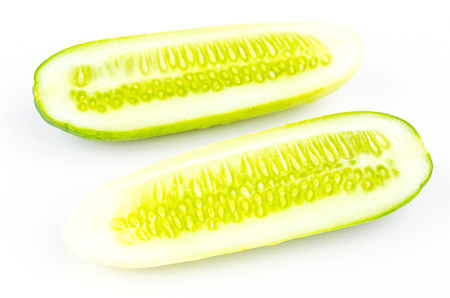 Cucumber on isolated white background photo