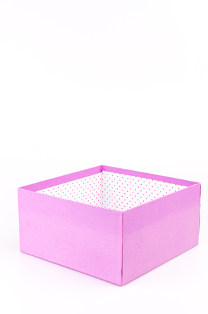 Purple gift box on isolated white background