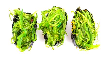Sushi seaweed on white background