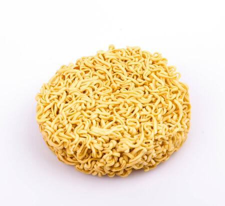 Pasta on white background photo