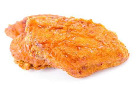 Fried chicken on white  photo