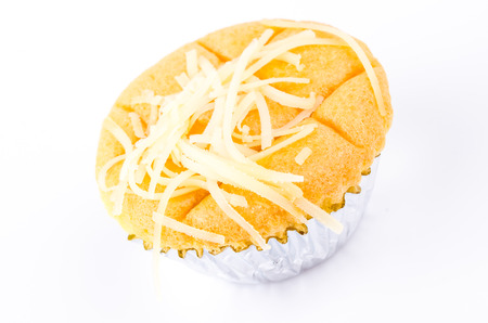 Cheese cupcake on white  photo