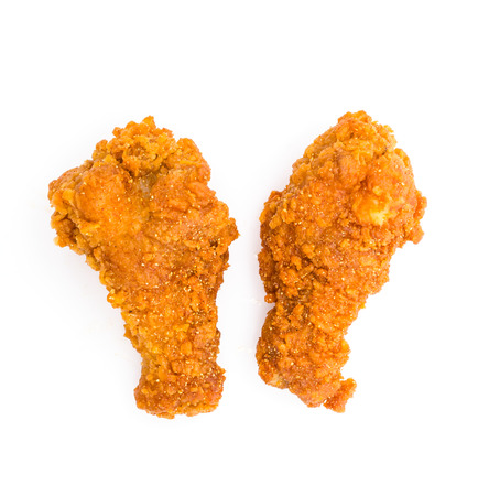 Spicy Fried chicken on white  photo
