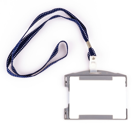 Nametag on isolated white background photo