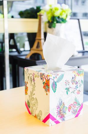 sniffles: Tissue box Stock Photo