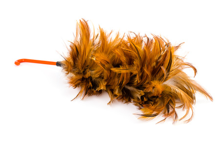 Duster on isolated white background photo