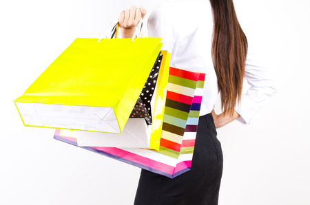 Women and shopping bags photo