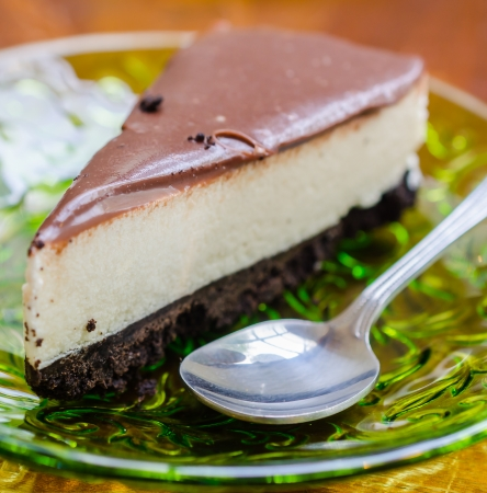 Chocolate cheesecake (Specific focus) photo